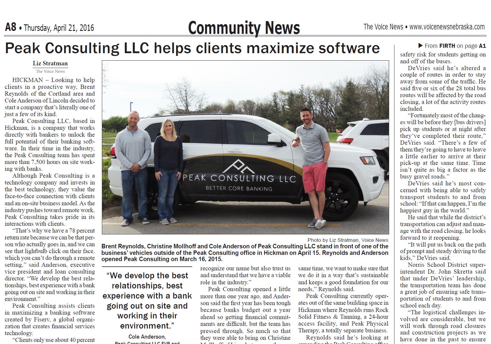The Voice News Peak Consulting LLC