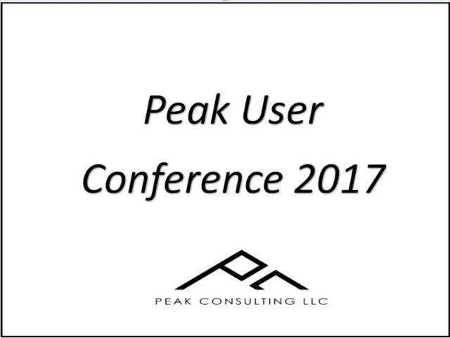 Peak Conference Highlights