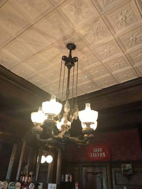 Utica, New York, F.X. Matt Brewery, chandelier,