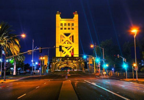 Sacramento, California street lights
