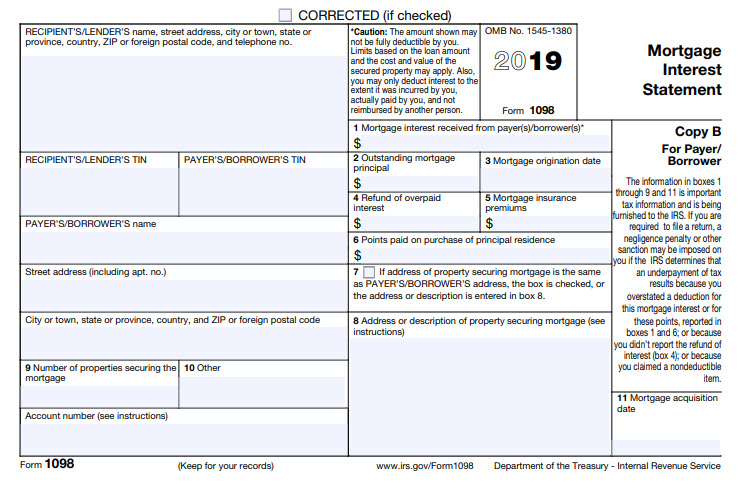 End of Year Tips – IRS Form 1098
