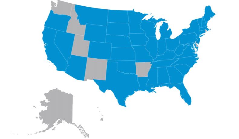 Peak USA Map